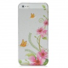 Protective Flower Rain Drop Pattern ABS Back Case for Iphone 5 - Translucent
