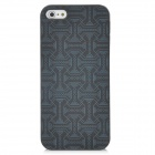 Waist Belt Pattern Protective ABS Back Case for Iphone 5 - Black + Grey