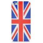Classic UK National Flag Pattern Protective Plastic Case with Screen Protector for Iphone 5