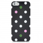 Protective Polka Dot Pattern IMD zurück Fall für iPhone 5 - Black + White
