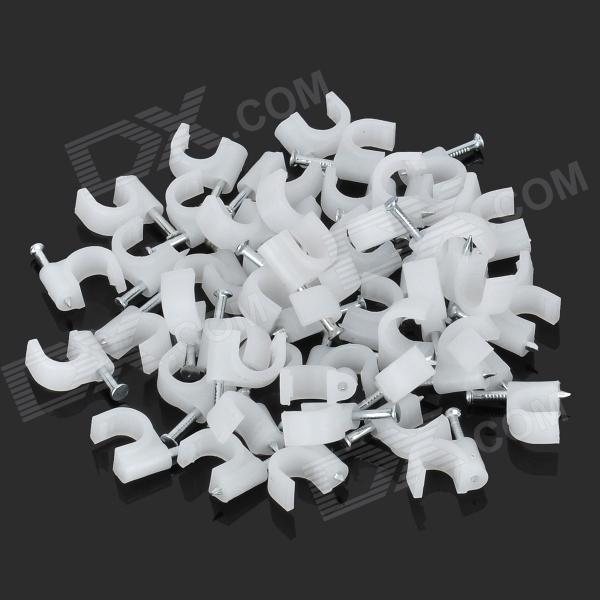 70mm U-Style Wall Mount Screws Anchors - White (50 PCS)
