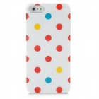 Protective Polka Dot Pattern IMD zurück Fall für iPhone 5 - White + Red