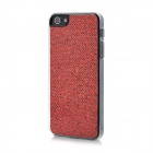 Twinkling Sequin Coating Pattern Protective PC Back Cover Case for Iphone 5 - Carmine Red