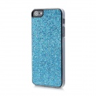 Twinkling Sequin Coating Pattern Protective PC Back Cover Case for Iphone 5 - Blue