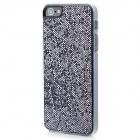Twinkling Sequin Coating Pattern Protective PC Back Cover Case for Iphone 5 - Black