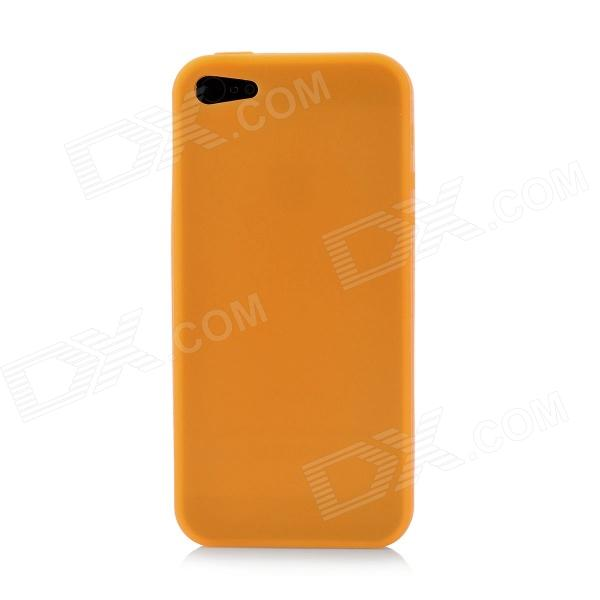 protective soft silicone back case for ipod touch 5 orange Soft Protective Silicone Back Cover Case for Iphone 5 - Orange