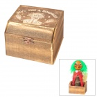 Witch Cartoon Shaped Wooden + Plastic Trick Box Toy - Brown (2 x AA)