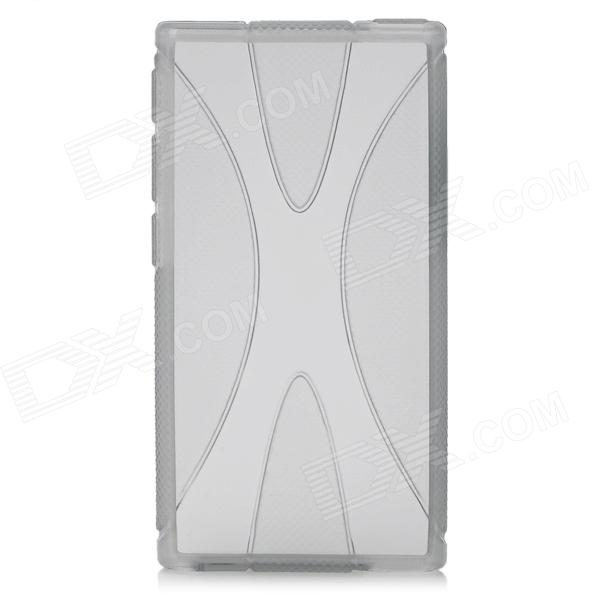 X Pattern Protective TPU Back Case for Ipod Nano 7 - Translucent Grey