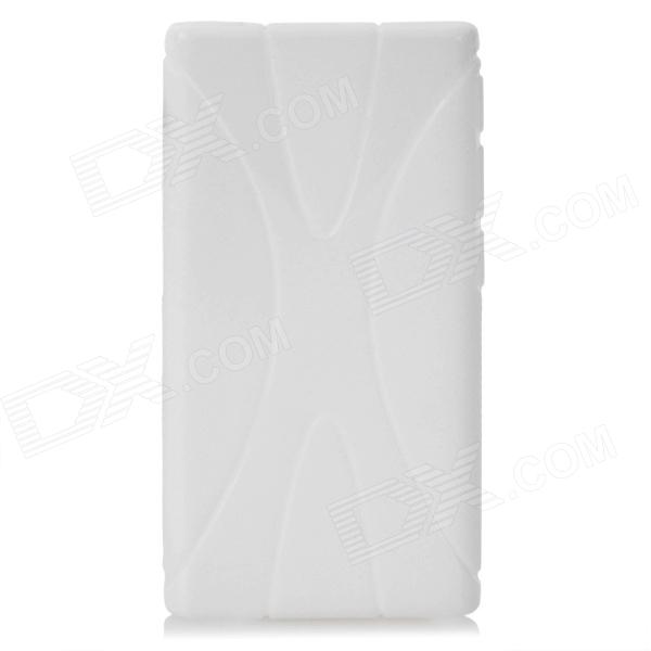 X Pattern Protective TPU Back Case for Ipod Nano 7 - White