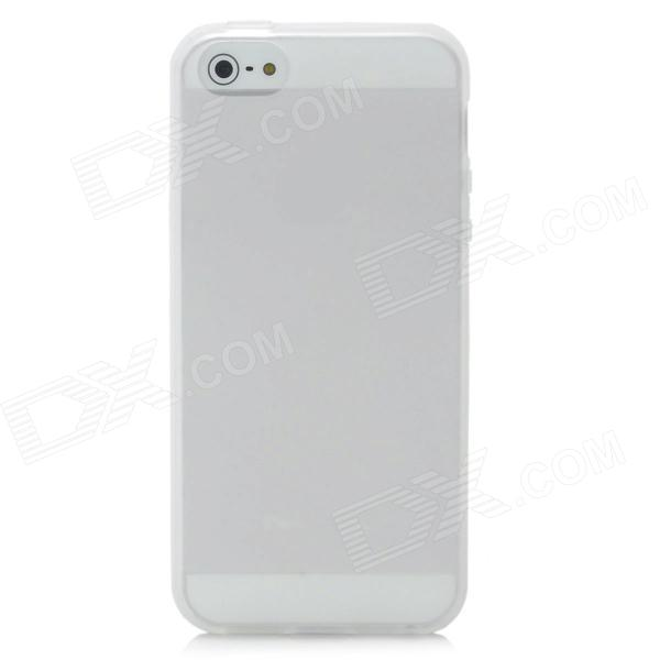 Protective Plastic Back Case for Iphone 5 - White
