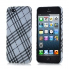 Check Pattern Protective ABS Back Cover Case for iPhone 5 - Black + White