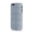 Waist Belt Pattern Protective ABS Back Cover Case for Iphone 5 - Black + White