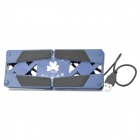 Aluminum Alloy Folding Notebook Laptop Cooler Fan - Blue