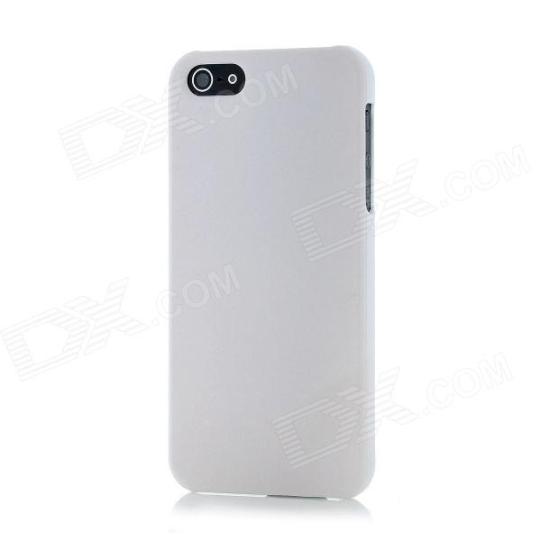 Novelty Color Changing Style Protective Plastic Back Cover Case for Iphone 5 - White