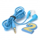 ELMCOEI EM-1802 Flat In-Ear Earphones w/ Cable Management - Blue (3.5mm Plug / 108cm)