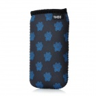 Bear Paw Pattern Water Resistant Protective Neoprene Sleeve Pouch for iPhone 4 / 4S - Black + Blue
