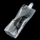 WB1100C Portable Folding Water Bottle Bag - Black + Transparent (1.1L)