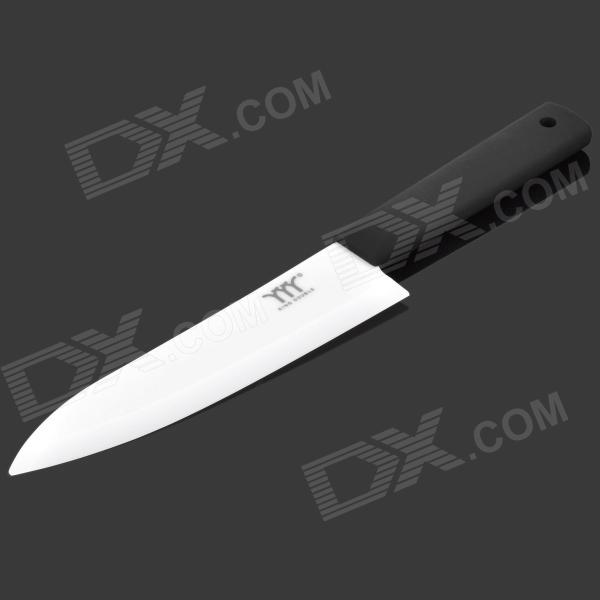 KINGDOUBLE KBZ-A6 6 Chic Zirconia Ceramic Knife -Black + White bestlead chinese peony pattern zirconia ceramics 4 6 knife chopping knife peeler holder