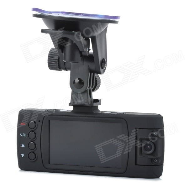 "2.7"" TFT 5.0MP Wide Angle Dual Lens Car DVR Camcorder w/ 10-LED IR Night Vision - Black"