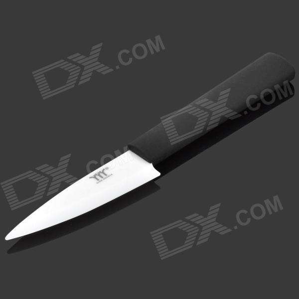 "KINGDOUBLE KBZ-A3 3"" Chic Zirconia Ceramic Knife - Black + White"