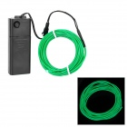 Wasserdicht Dekorative EL Cold Light Flexible Cable w / Drive - Green (3m / 2 x AA)