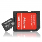 SanDisk Micro SD / TF Card w/ Adapters - Black (32GB / Class 4)