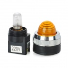 Yellow Light LED Instrument Indicator Lamp for Electric DIY - Yellow + Black (220V)