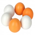 Cute Simulation Wooden Eggs Toys - White + Orange