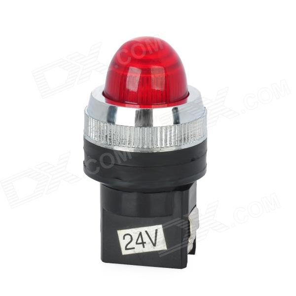 DIY Red LED Indicador - Preto (DC 24V)