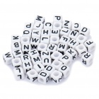 Chainable Black and White Numeric Buttons for DIY Apparels - 7mm (Assorted 50-Pack)