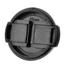 37mm Universal Plastic Lens Cap for Sony / Pentax / Fuji Camera - Black