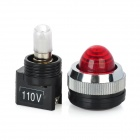 Red Light LED Instrument Indicator Lamp for Electric DIY - Red + Black (110V)