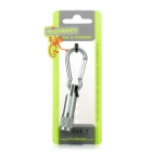 Munkees 1076 Aluminum Alloy Quick Release w/ White Light LED Lamp - Grey (4 x LR41)