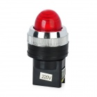 Red Light LED Instrument Indicator Lamp for Electric DIY - Red + Black (220V)