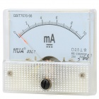 DC 0~10mA Square Panel Mounting Analog Amp Current Meter Ammeter - White