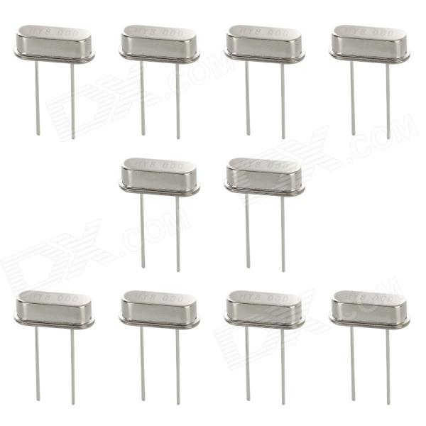 49S Electronic DIY 8MHz Crystal Oscillator - Silver (10 PCS)