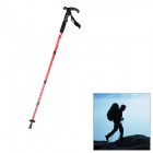 TY-P2001 Light Weight Retractable Aluminum Alloy Trekking Hiking Walking Stick Pole - Red