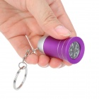 Cute Trumpet Style 3-LED White Light Flashlight Keychain - Purple (3 x AG10)