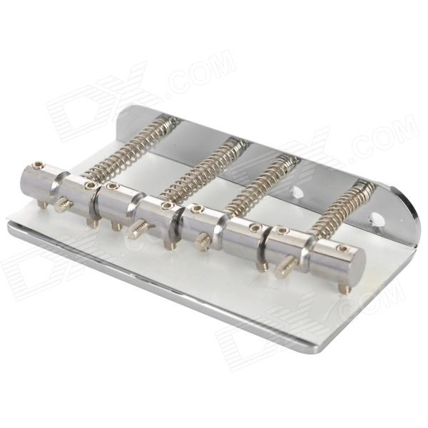 Instrument 4-String Electric Bass Bridge Saddle - Silver (80mm) free shipping 4 4 size 310bf french brazilwood bass bow good quality ebony frog and horsehair nickel silver bass accessories