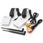 2,5 GHz 2,5 W Wireless Transmitter und Receiver Kit w / Antennen - Silber