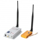 1.2GHz 1500mW Wireless Receiver and Transmitter Kit w/ Antennas - Silver