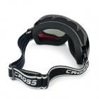 T815-37 Dual Layer Lens Safety Skiing Goggles - Black + Red Frame