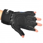 XLY209 Outdoor Sports Anti-Slip Half-Finger Gloves - Blue + Black (Size L)