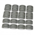 WA-10 XTM 20mm Rail Cover Set - Dark Grey (16 PCS)