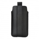 Protective PU Leather Bag Pouch with for Iphone 5 - Black