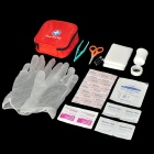 M1209005 Emergency First Aid Kit Bag Survival Tool Set - Red