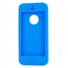 Ultra-Thin Protective Silicone Soft Back Case for iPhone 5 - Blue