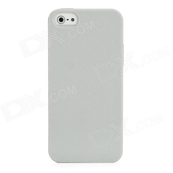 Protective TPU Soft Back Case for Iphone 5 - Grey touchable flip tpu soft protective case for iphone 7 4 7 inch grey