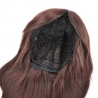 Fashion Long Hair Tilted Frisette Wig - Dark Brown