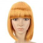 Cosplay Fashion Short Straight Hair Wig - Golden Yellow